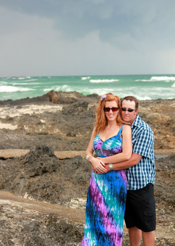Testimonial Carina & Michael Renewal of Vows behind Elephant Rock Currumbin Beach Gold Coast with Marry Me Marilyn