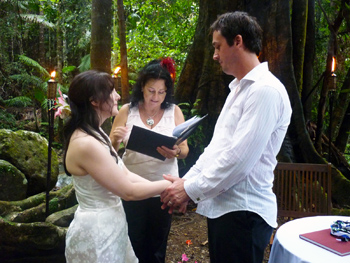 Damian & Clare's Handfasting Wedding With Marry Me Marilyn at Crystal Creek Rainforest Retreat in Crystal Creek in NSW