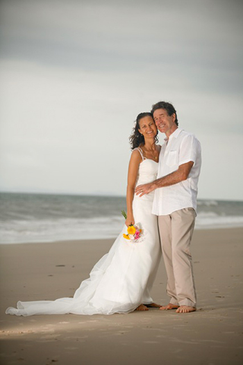 Wedding of Esther from Switzerland & Steve Wedding on Woorim Beach Bribie Island Queensland Marry Me Marilyn