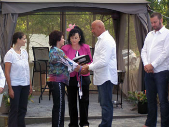 Wedding Ceremony Handfasting with Infinity Hand Hold Brisbane with Marry Me Marilyn Wedding Celebrant