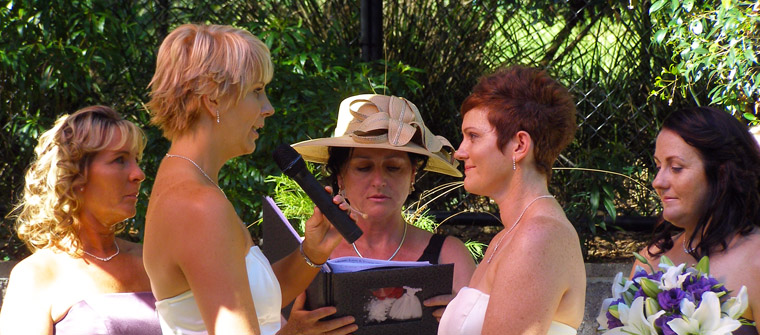 Same Sex Commitments - Marry Me Marilyn - Rainbow Pride Celebrant, Gay Celebrants Lesbian Celebrants GLBT Celebrants, Gold Coast Brisbane Byron Bay - Civil Marriage Celebrants Wedding Celebrants - Weddings - Baby Namings - Handfastings, Butterfly Release, Shell Ceremony,