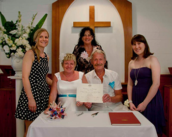 Judy & Dieter's Wedding at St Margaret's Chapel Benowa Gold Coast with Marry Me Marilyn