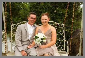 Kylie Kristian were married by Marry Me Marilyn Verschuure at Eagle Heights Mountain Resort on Mt Tamborine