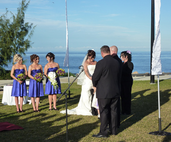 Leisha & Jeff's Wedding by the pier at Woody Point Redcliffe
