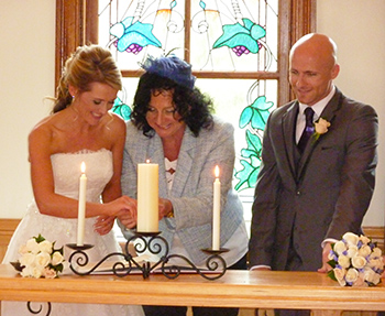 Lisa and Eamonn were married by Marry Me Marilyn in the beautiful Tamborine Gardens Chapel