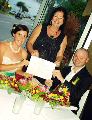 Marry Me Marilyn conducted the  Wedding Louise & Michael Elephant Rock Cafe Currumbin