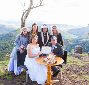 Lisa & Alan's Wedding Luke's Bluff O'Reilly's Rainforest Retreat Gold Coast Hinterland with Marry Me marilyn