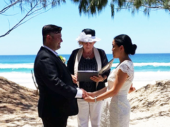 Marry Me Marilyn Karen & Paul from Melbourne Victoria married at Main Beach Gold Coast