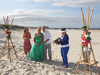 Marry Me Marilyn Wedding Kim & John Currumbin Beach
