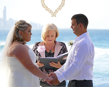Marry Me Marilyn Wedding Celebrant Cara & Michael Wedding John Laws Park Burleigh Headland Gold Coast