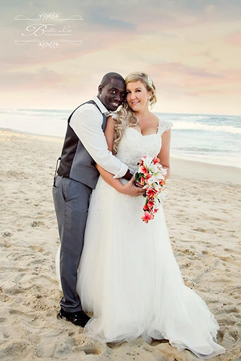 Carla and Joel Francis married at Surfers Paradise Beach Gold Coast Marry Me Marilyn