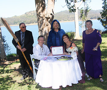 Marry Me Marilyn_Chris_James_Renewal of Vows Signing Secrets on the Lake Montville