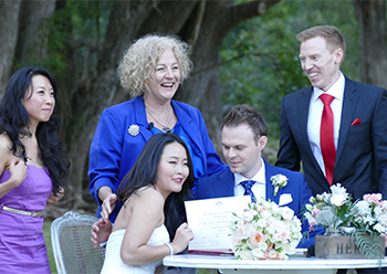 Marry Me Marilyn Wedding Celebrant Chris & Richard Wedding O'Reilly's Canungra Valley Vineyard Canungra Gold Coast Hinterland