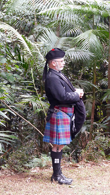 Marry Me Marilyn Claire & Dan Scottish Wedding Pether's Rainforest Retreat Tamborine Mountain Piper