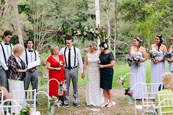 Marry Me Marilyn Wedding Celebrant Jodie Sean Wedding Polly's Kitchen Neranwood Gold Coat Hinterland Rose Exchange