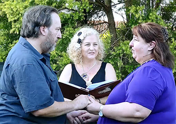 Marry Me Marilyn_John & Sally Handfasting Renewal of Vows 25th Wedding Anniversary Isle of Capri Gold Coast