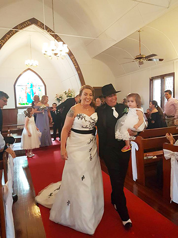 Marry Me Marilyn Judy & Henry Wedding Chapel Albert River Winery Tamborine