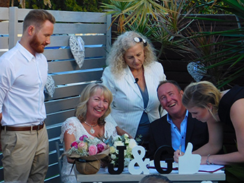 Marry Me Marilyn Julia & Graeme Wedding Paradise Point Northern Gold Coast
