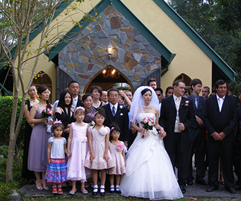 Marry Me Marilyn gold Coast Celebrant Adam Kaoru Traditonal White Wedding in the Coolibah downs Chapel at Nerang on the Gold Coast
