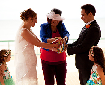 Marry Me Marilyn Katrina & Michael's Family Handfasting Wedding Rotunda Sails Sutton's Beach Redcliffe