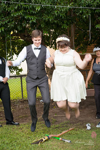 Marry Me Marilyn_Kendall & Daniel Handfasting Commitment Everton Park Brisbane Jumping the Broom