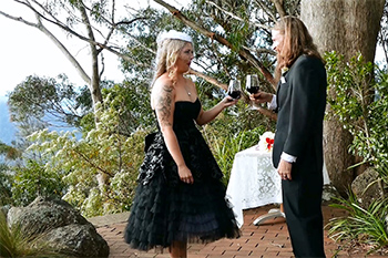 Marry Me Marilyn_Lisa_Jimmy_Wedding Binna Burra Lodges_Wine Ceremony