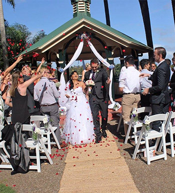 Marry Me Marilyn Wedding Celebrant May & Stephane Wedding Laguna Park Palm Beach Gold Coast