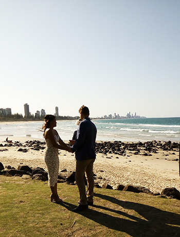 Marry Me Marilyn Handfasting Wedding Celebrant_Saowalak Thai & Mitchell Wedding John Laws Park Burleigh Heads Gold Coast