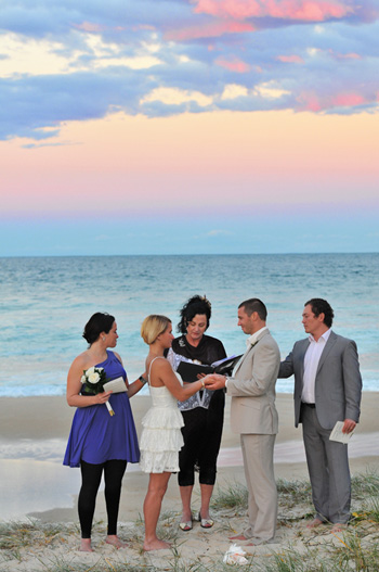 Marry Me Marilyn married Martijn & Merit on Main Beach on the Gold Coast with Marry Me Marilyn Photo courtesy of Adorn Photography