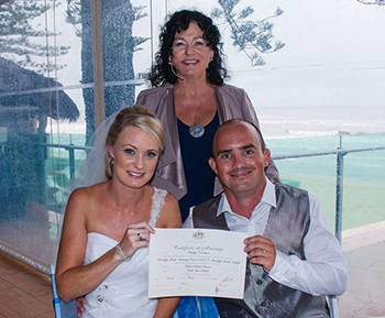 Nicola_Mick's Wedding with Marry Me Marilyn at Burleigh Heads SLSC