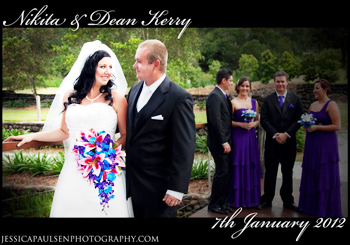 Marry Me Marilyn married Nikita & Dean at The Historic Rivermill Chapel in Mount Nathan in the Gold Coast Hinterland