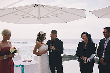 Olga & Alex a Russian couple's Wedding at Currumbin Beach Vikings Gold Coast_Wine Ceremony with Marry Me Marilyn