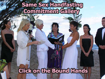 Same Sex Lesbian Gay Bisexual Transgender Handfasting Commitment by Marry Me Marilyn Civil Celebrant Gallery