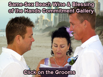 Same-Sex Beach Wine Blessing of the Hands