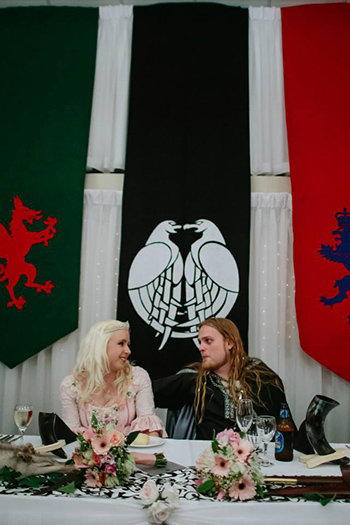 Marry Me Marilyn_Sarah & Gareth's Medieval Inspired Wedding Robertson Gardens Nathan Viking Style Banquet
