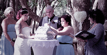 Seemena & Thomas married at Boomerang Farm in Mudgeeraba Gold Coast with Marry Me Marilyn_Silver Wedding Box Ceremony