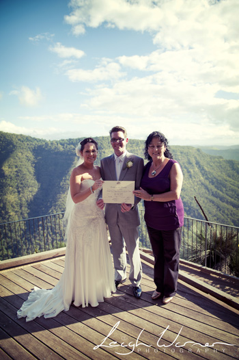 Tanya & Steve Wedding at Moonlight Crag O'Reilly's Rainforest Retreat with Marry Me Marilyn Wedding Celebrant