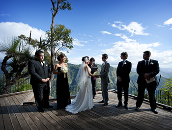 Marry Me Marilyn Celebrant married Tanya & Steve Wedding at Moonlight Crag O'Reilly's Rainforest Retreat Gold Coast Hinterland