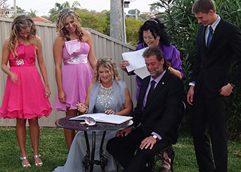 Marry Me Marilyn married Trudy & Roger Banora Point Home in the Tweed Northern NSW